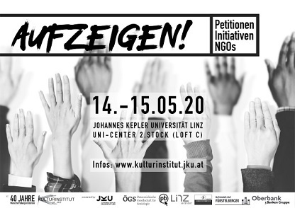 "Virtuelles Symposion ""AUFZEIGEN! Petitionen, Initiativen, NGOs"""